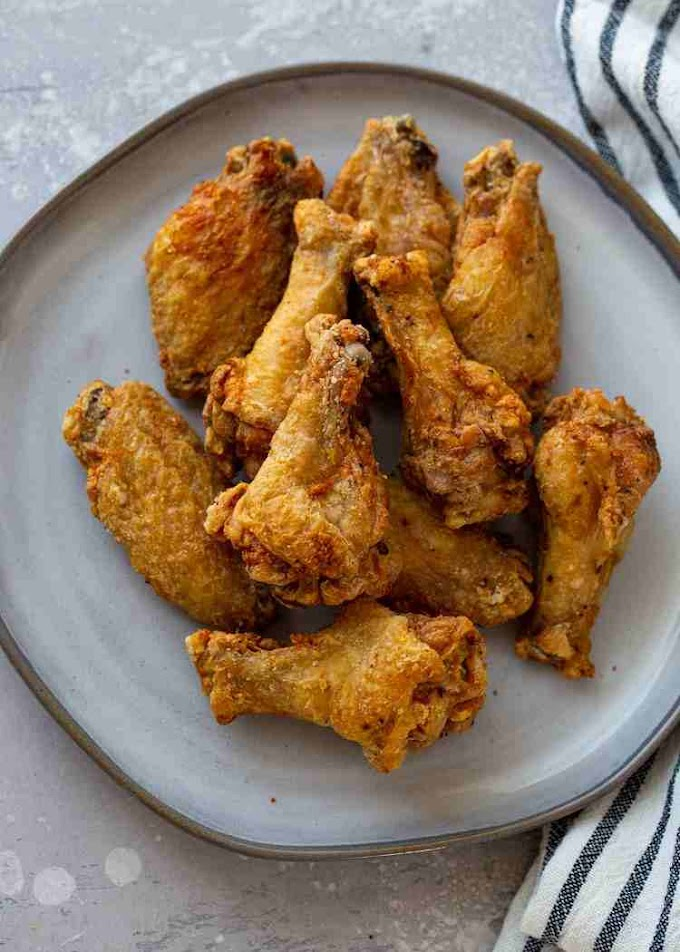 AIR FRYER CRISPY CHICKEN WINGS AT HOME-CookWithShabss