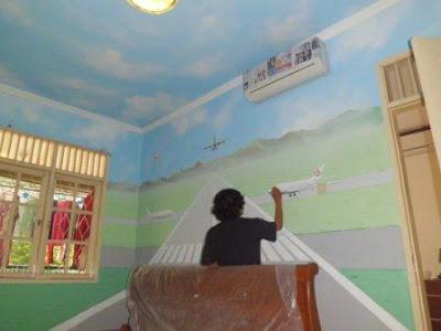 Lukis tembok kamar anak laki