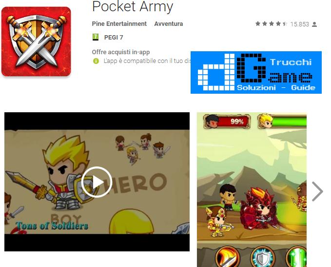 Trucchi Pocket Army Mod Apk Android v1.8