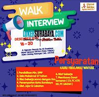 Walk In Interview di Geprek Kak Rose Surabaya Desember 2019