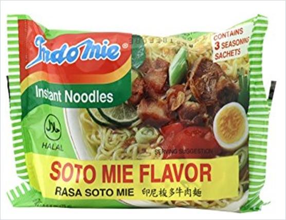 Indomie Instant Noodles Soup Soto Mie Flavor