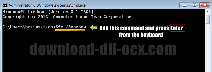 repair ScanServ.dll by Resolve window system errors
