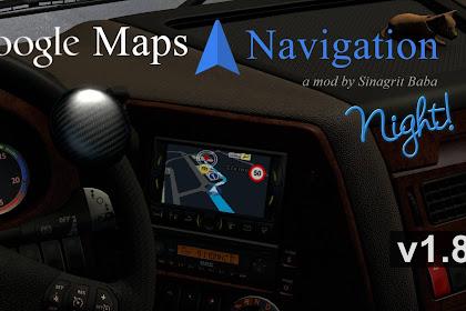 ETS 2 - Google Maps Navigation Night Version v1.8
