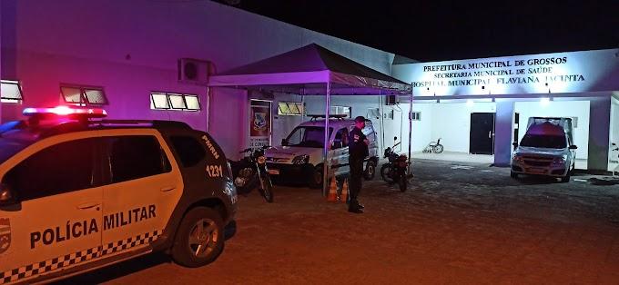 Homem sofre disparos de arma de fogo no bairro São José em Grossos e morre ao dar entrada no HRTM em Mossoró