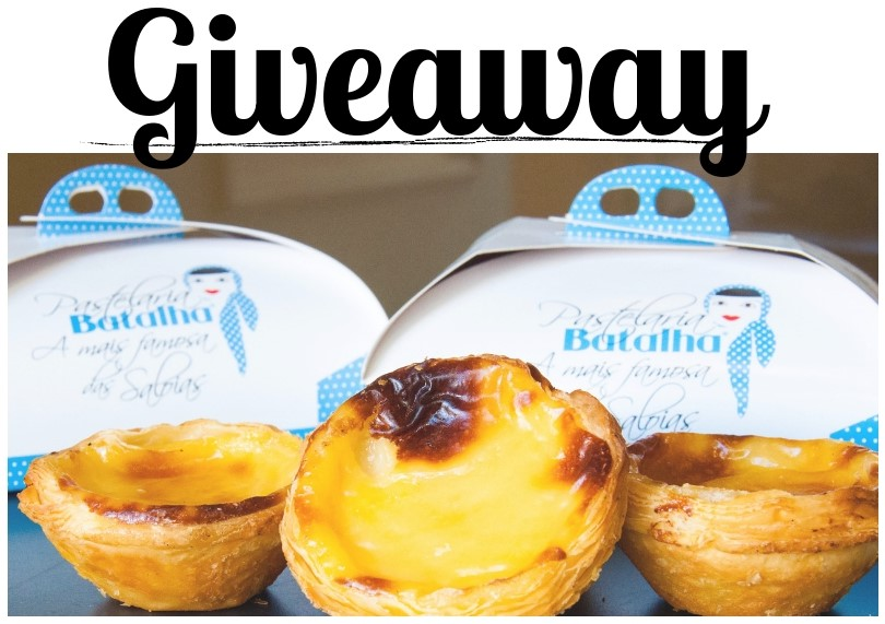 giveaway pastéis de nata + passatempo + bolo típico português + blogue de casal + pedro e telma + pastelaria batalha + lisboa