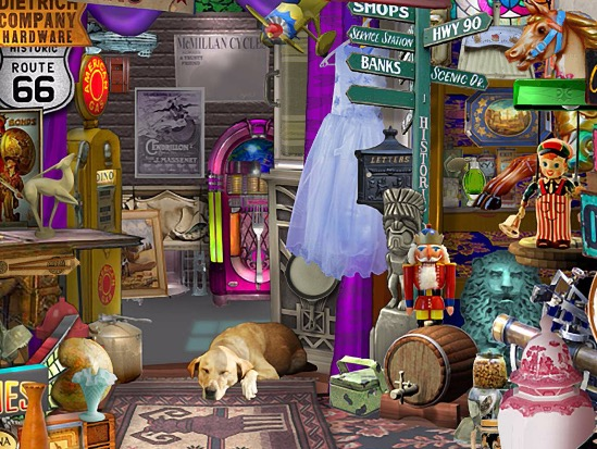 little shop of treasures Puzzle Games Play Online Free Hidden Object