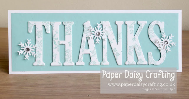 Large Letters, Beautiful Blizzard, Blizzard thinlits, Stampin Up