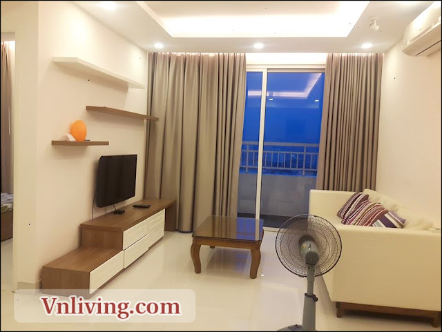Masteri Thao Dien apartment for rent 2 bedrooms white color furniture