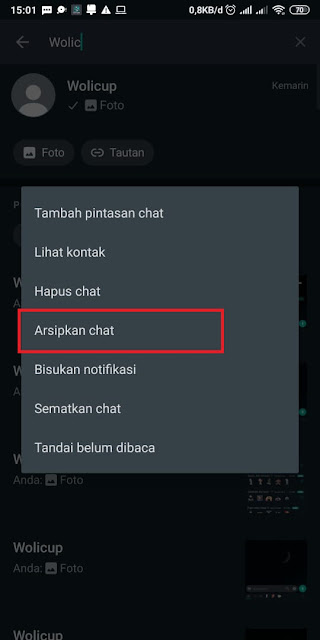 Cara Menyembunyikan Chat di WhatsApp 1