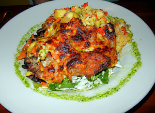 The Pork Relleno Plato at Salsa's restaurant in Asheville, NC