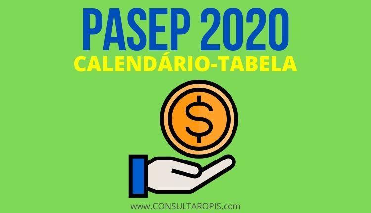 Calendário PASEP 2020