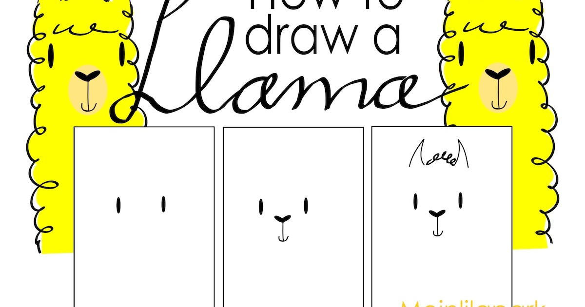 How To Draw A Llama Alpaca Clip Art Lama Und Alpaka