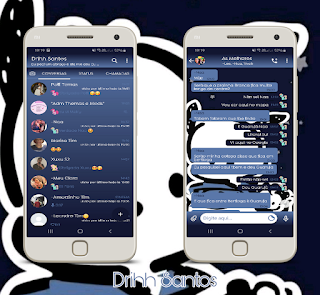 Blue Teddy Bear Theme For YOWhatsApp & Fouad WhatsApp By Driih Santos