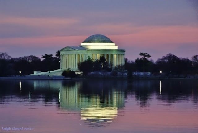 Jefferson Memorial and Tidal Basin at sunrise
