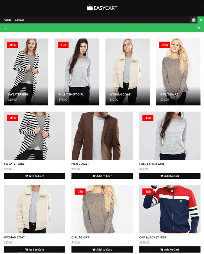 Easy Cart Shopping Blogger Template
