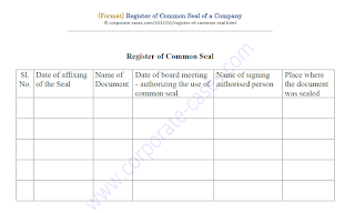 register of documents executed under common seal