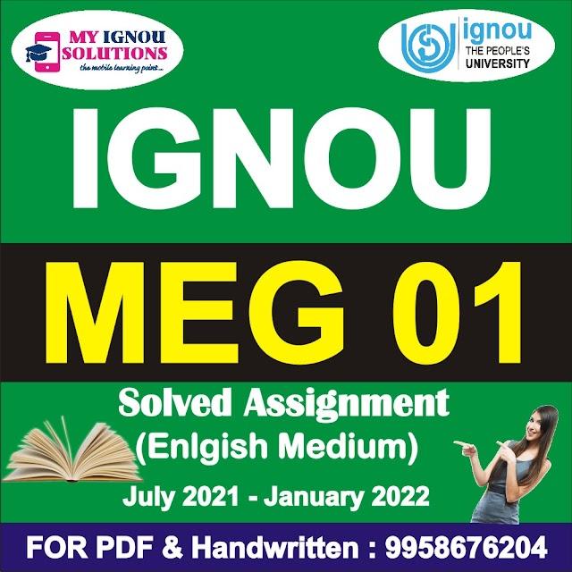 MEG 01 Solved Assignment 2021-22