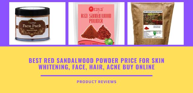 Best Red sandalwood powder price for skin whitening, face, hair, acne buy online