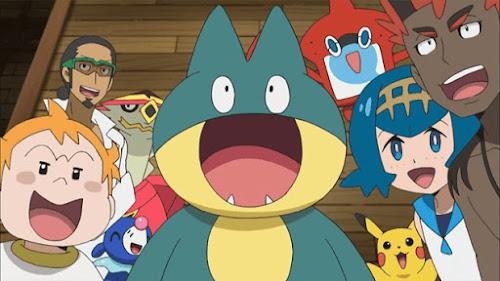 Pokemon Sol y Luna Capitulo 48 Temporada 20 Una pose llena de poder en la fiesta de pijama