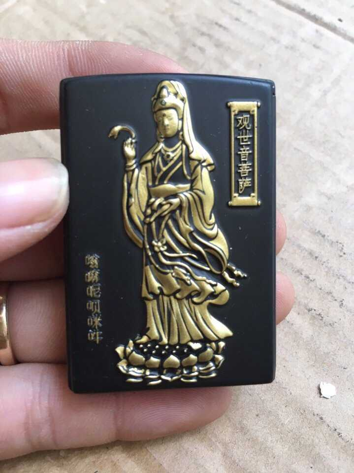 25k - Bật lửa Phật lửa khè màu đen giá sỉ và lẻ rẻ nhất