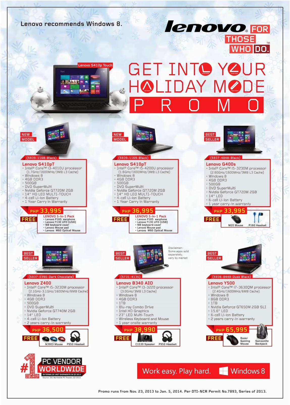Lenovo Get into Your Holiday Mode Promo