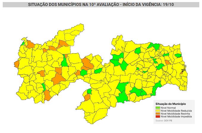 COVID-19: Nova avaliação do governo mostra Amparo entre os municípios em bandeira verde na Paraíba