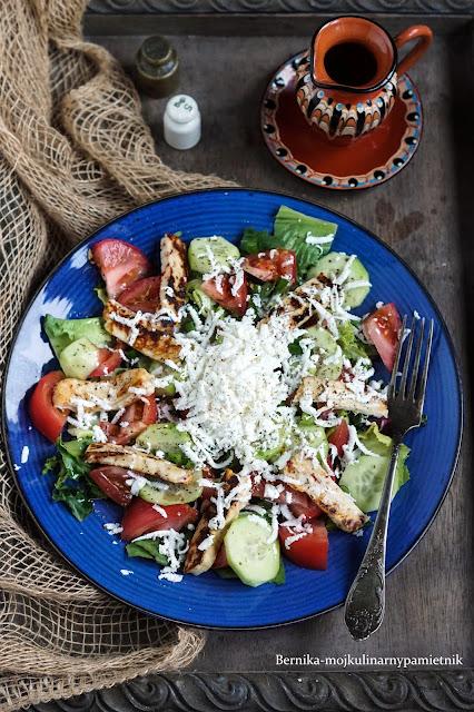 salatka, obiad, ser, szer szopski, houlumi, bernika, kulinarny pamietnik