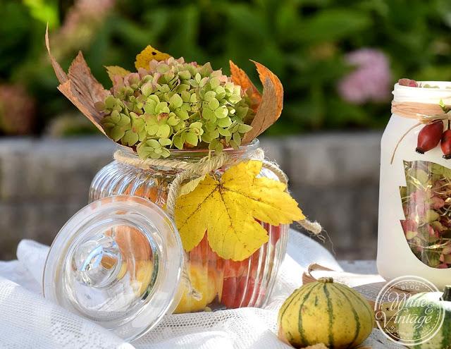 Herbstdekoideen aus Marmeladengläsern