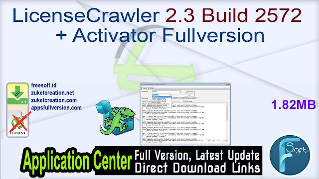 LicenseCrawler 2.3 Build 2572 + Activator Fullversion