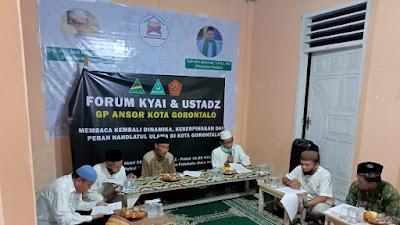 Ini Draf Pembahasan dalam Forum Kyai dan Ustadz GP Ansor Kota Gorontalo