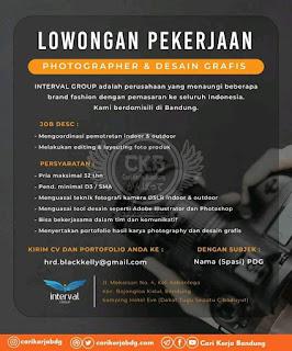Lowongan Kerja Photographer dan Desain Grafis Bandung - Agustus 2020