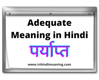 Adequate Meaning in Hindi - 14+ Best Sentence and Synonyms