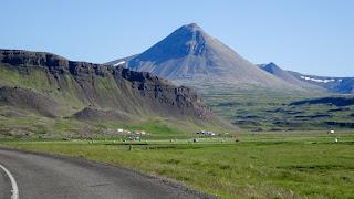 Walking up the volcano