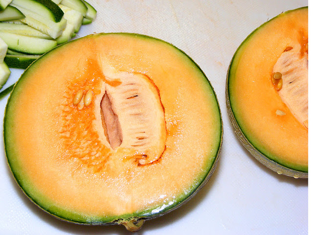 Charentais melon from Haut-Poitou. Indre et Loire. Photo by Loire Valley Time Travel.