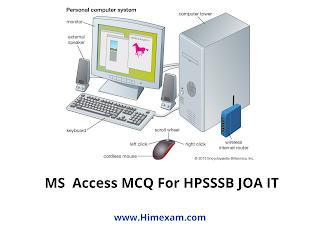 MS  Access MCQ For HPSSSB JOA IT