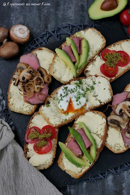 Bunt belegte Schnittchen | Rezept | Brot | Brotzeit | Essen