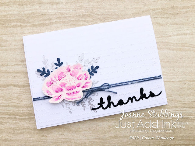 Jo's Stamping Spot - Just Add Ink Challenge #529 Thank You card using Tasteful Touches Stamp Set by Stampin' Up!