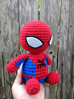 free Spiderman crochet pattern,