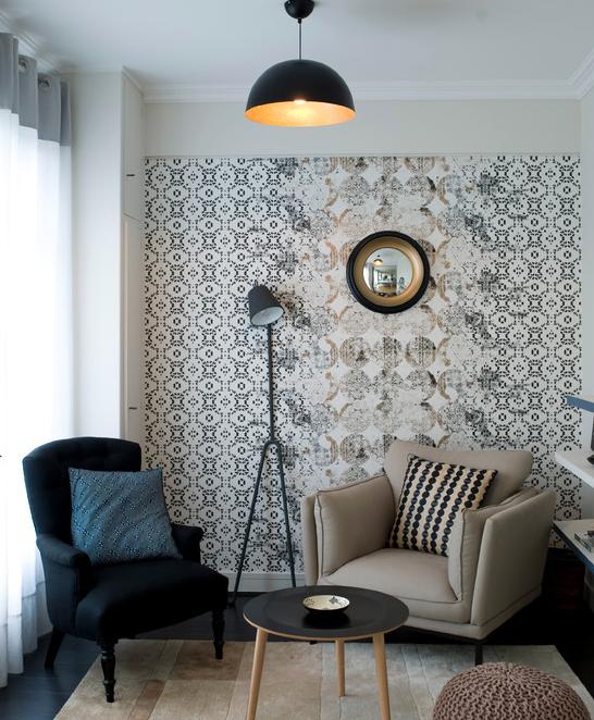 papier peint a fleurs style anglais. Black Bedroom Furniture Sets. Home Design Ideas