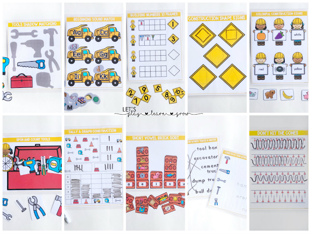 Construction Theme Busy Binder