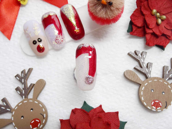 Easy Santa's Hat Nail Art | Step By Step Demo
