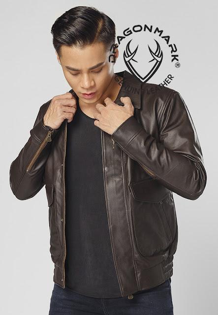 áo khoác da nam đẹp