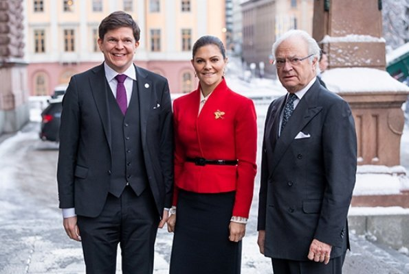 King Carl XVI Gustaf and Crown Princess Victoria attended the seminar at Riksdag