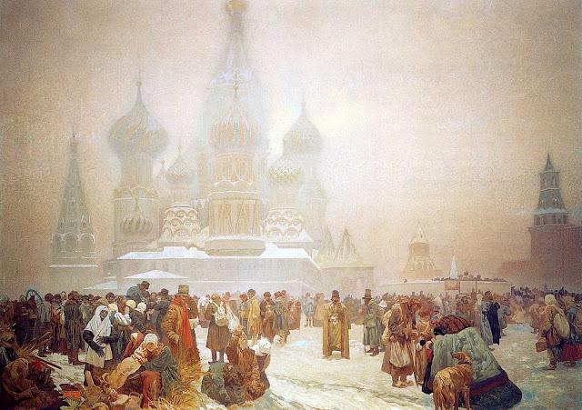 Альфонс Муха - Славянский эпос. Отмена крепостного права на Руси. 1914