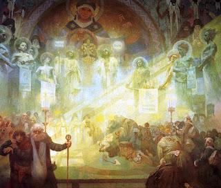 Πίνακας «Το Άγιο Όρος» 1926, του Τσέχου Alphonse Maria Mucha