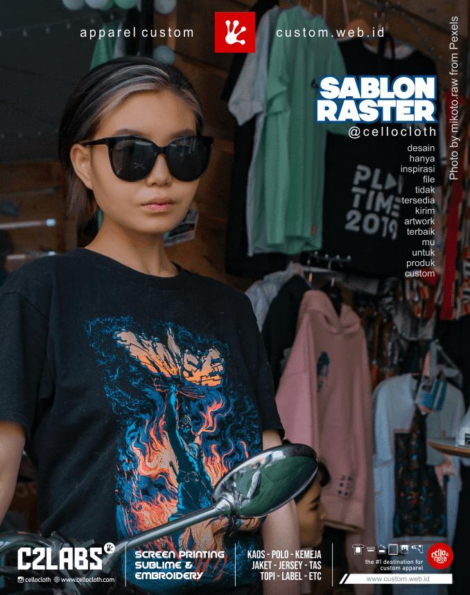 Sablon Kaos Raster Separasi Sablon Photo Artwork - Cellos Clothes