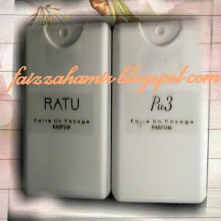 Wangi melekat dengan traveller parfum Pu3 & Ratu