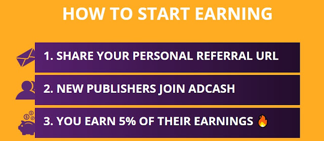 Adcash affiliate referral commission