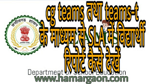 CG TEAMS तथा teams-t के माध्यम से SLA असेसमेंट का रिपोर्ट कैसे चेक करें