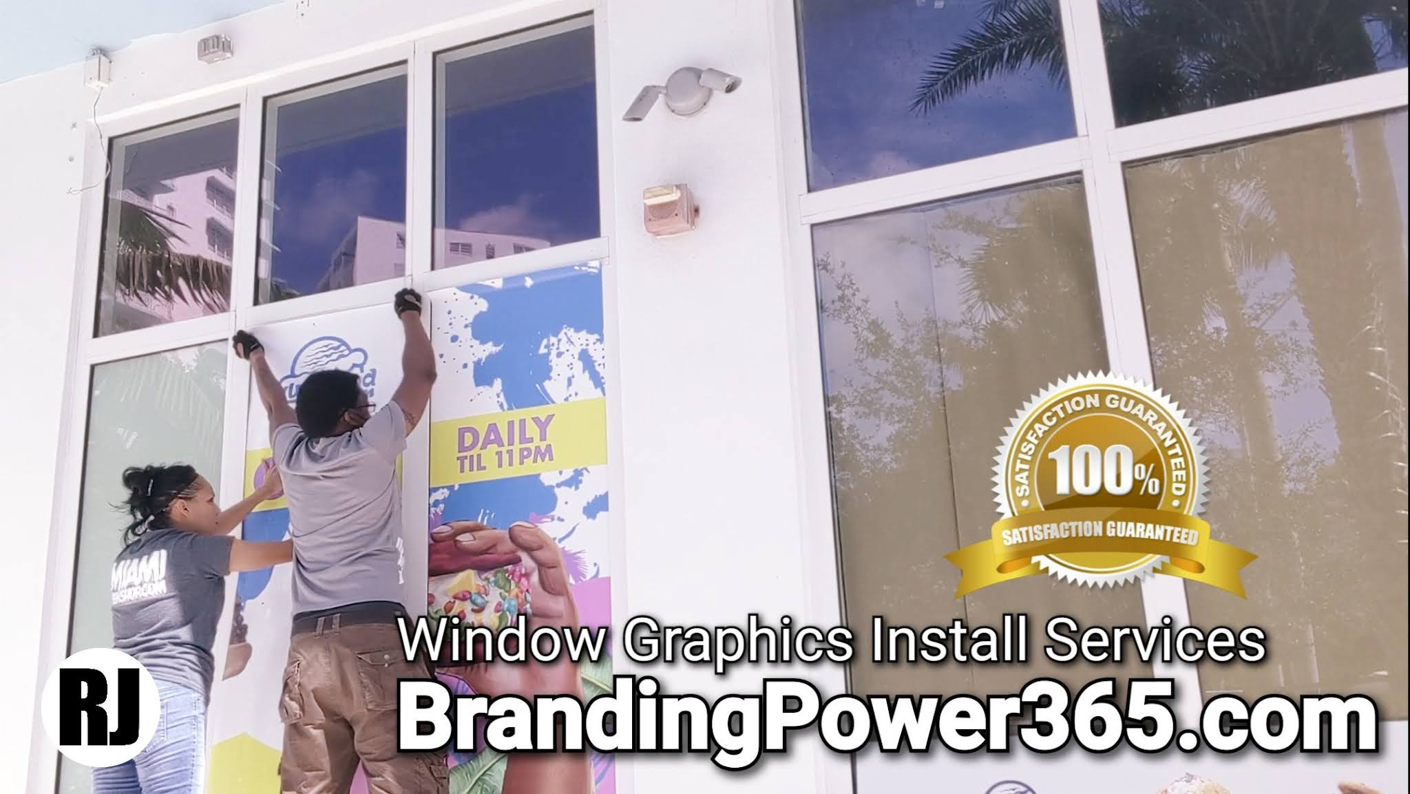 Window Graphics Installation Services in Miami. BrandingPower365.com